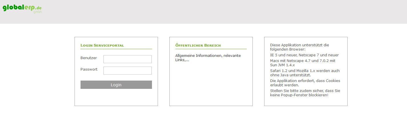 Serviceportal-login